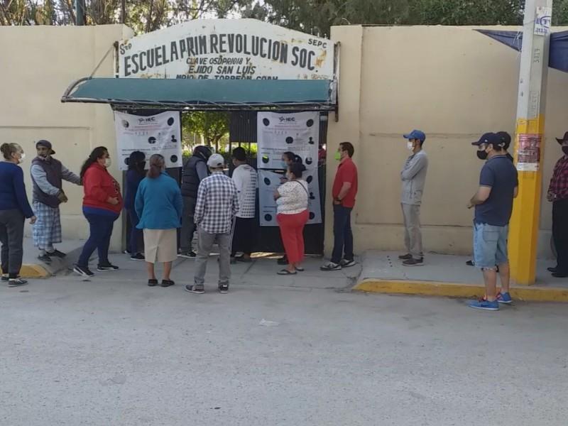 Atípica jornada electoral arranca con medidas sanitarias