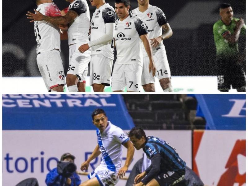 Atlas ganó mientras Puebla y Querétaro repartieron puntos