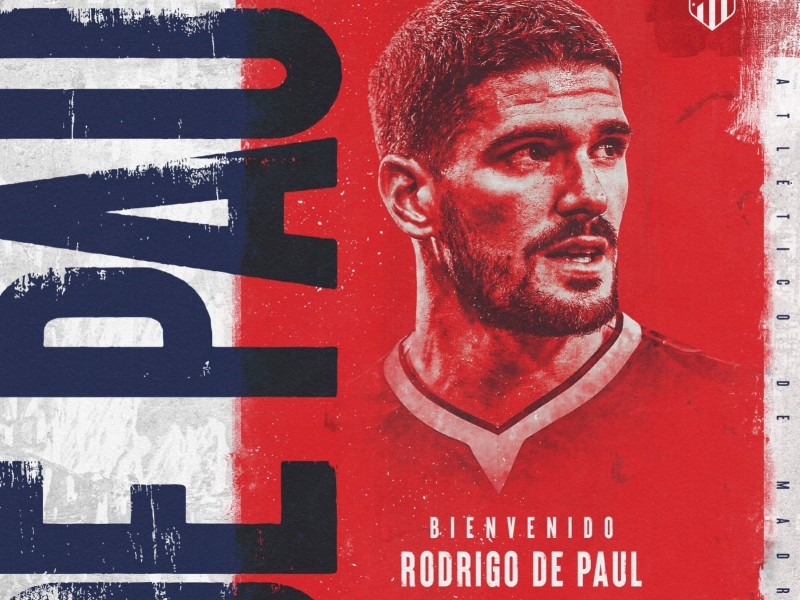 Atlético de Madrid contrató al argentino Rodrigo de Paul