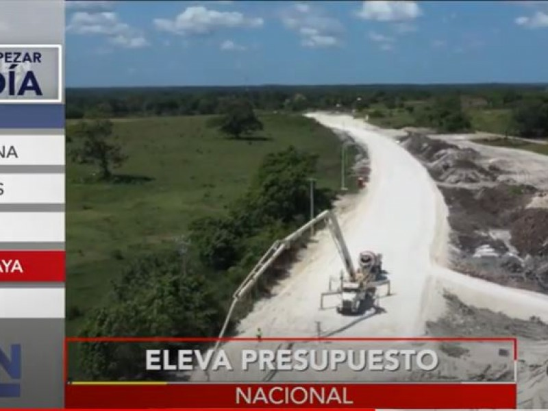 Aumenta 60 mmdp el proyecto del Tren Maya