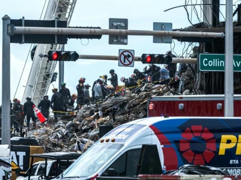 Aumenta a 16, número de muertos por derrumbe en Miami