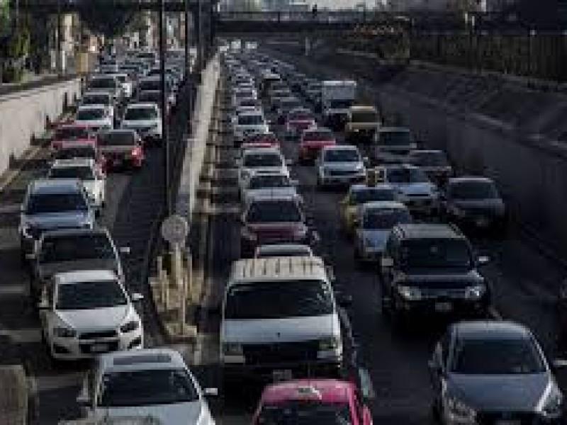 Aumenta aforo vehicular en entradas a la CDMX