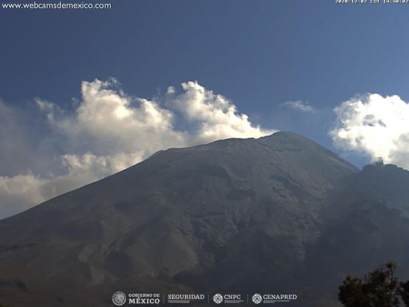 Aumenta su actividad el volcán Popocatépetl, prevén caída de ceniza