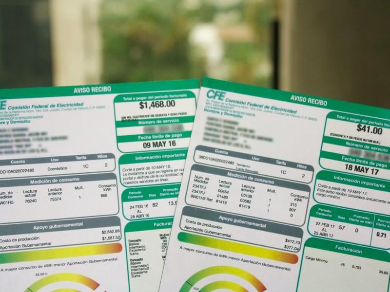 Aumenta tarifa de energía durante diciembre