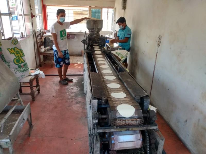 Aumentan el precio del kilogramo de la tortilla en Juchitán
