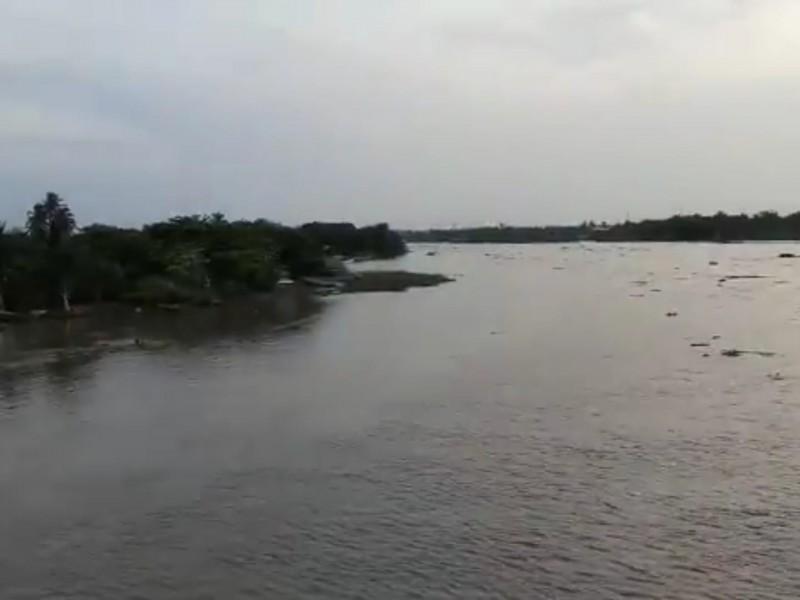 Aumentan nuevamente níveles en ríos Jamapa y Cotaxtla