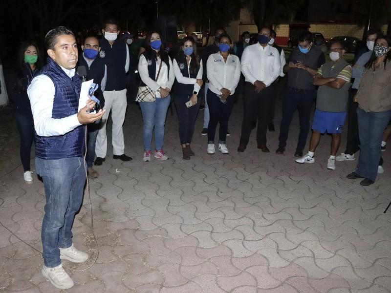 Autoridades de Corregidora prenden alumbrado en Tejeda
