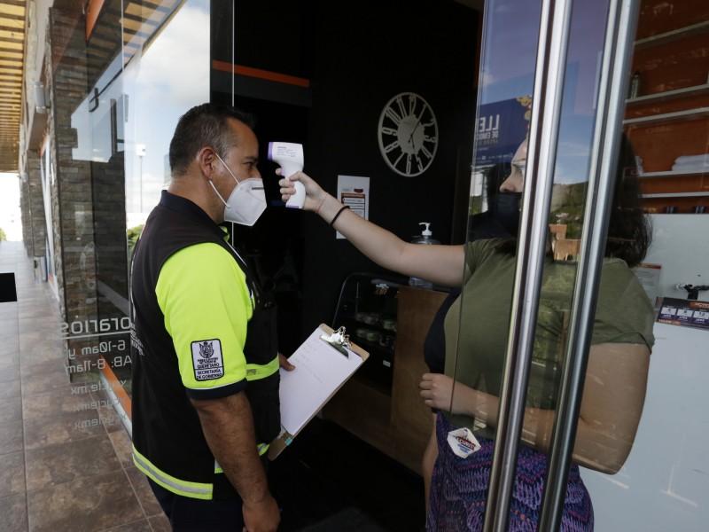 Autoridades supervisan medidas sanitarias en la zona metropolitana de Querétaro
