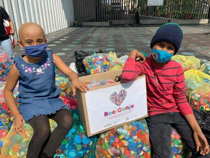 Avanza colecta de tapitas para ayudar a niños con cáncer