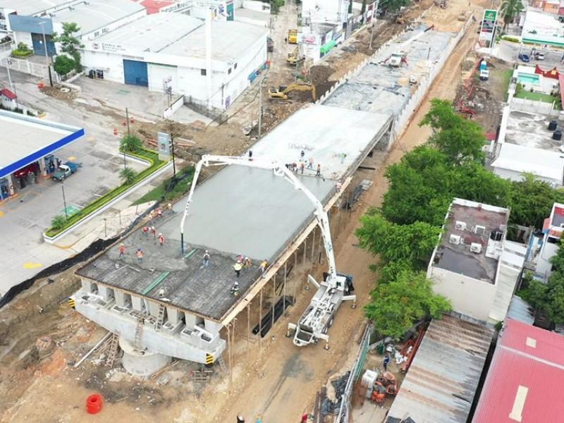Avanza construcción de paso desnivel en TGZ