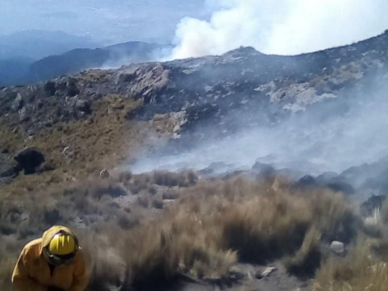 Avanza control del incendio forestal en el Iztaccíhuatl
