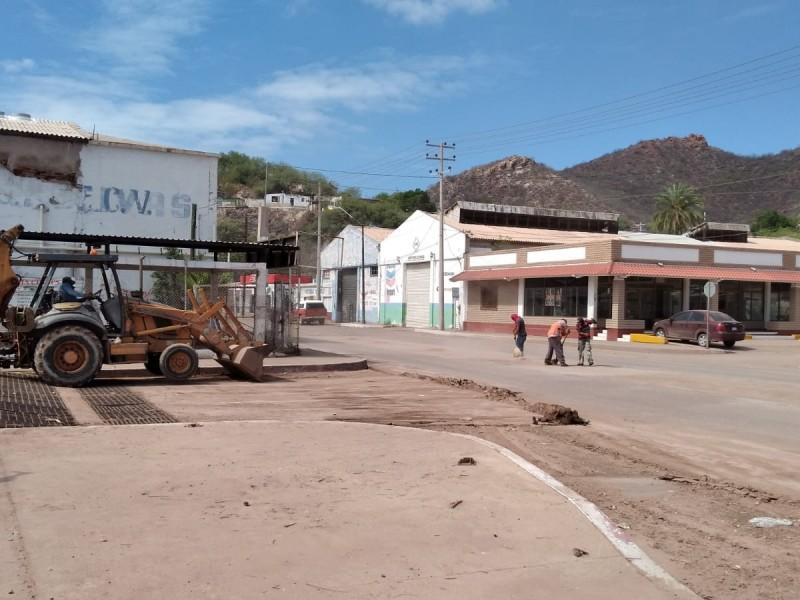 Avanza en un 60% limpieza en Guaymas por lluvias