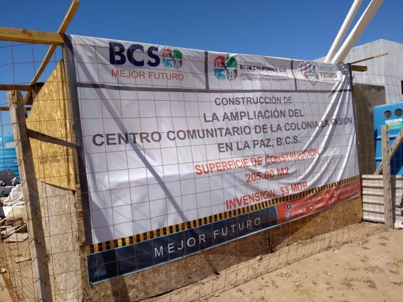Avanza en un 80% obra del Centro Comunitario