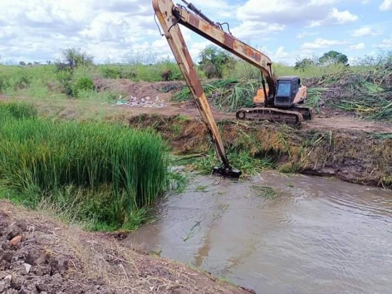 Avanza limpieza de drenes y arroyos en Salvador Alvarado