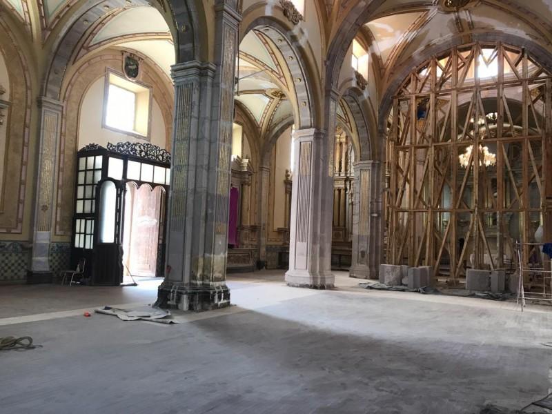 Avanza rehabilitación de parroquia en Jerez