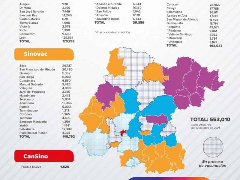 📹Avanza vacunación en todo Guanajuato, faltan segundas dosis