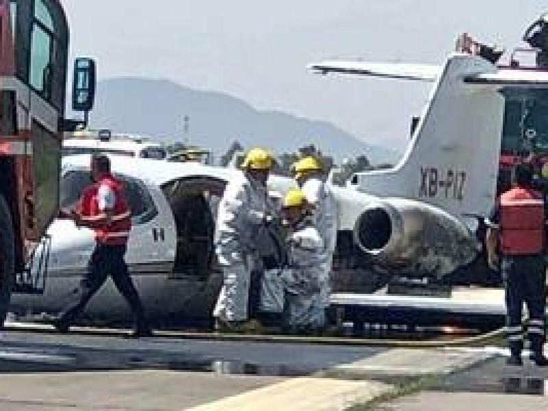 Avión aterriza de emergencia en el Aeropuerto Internacional de Toluca