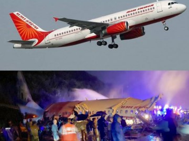 Avión con 190 pasajeros se parte en dos en India