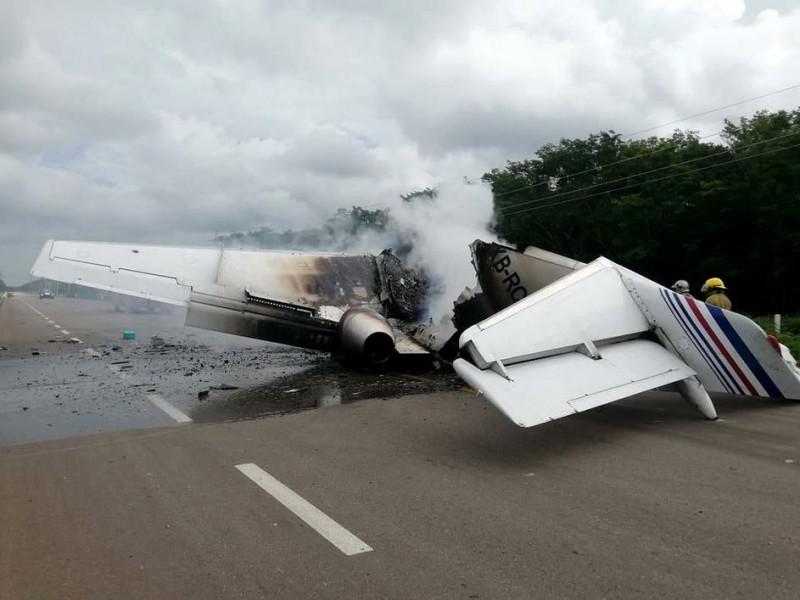 Avioneta incendiada en Quintana Roo venía de Venezuela; traía droga
