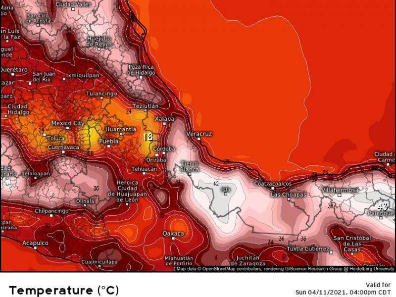 Aviso especial por ambiente caluroso en Veracruz