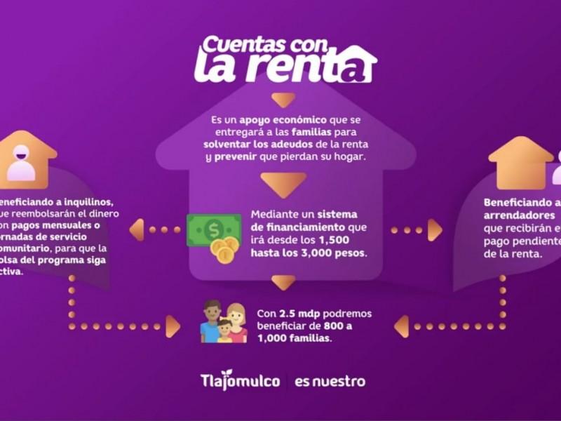 Ayudará Tlajomulco a habitantes con pago de rentas