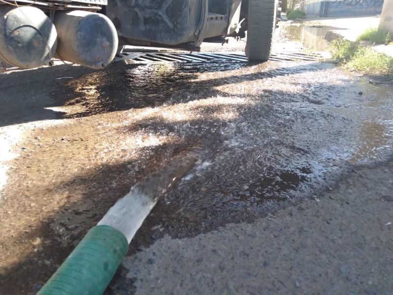 Ayuntamiento de Cajeme desperdició 10,000 litros de agua limpia