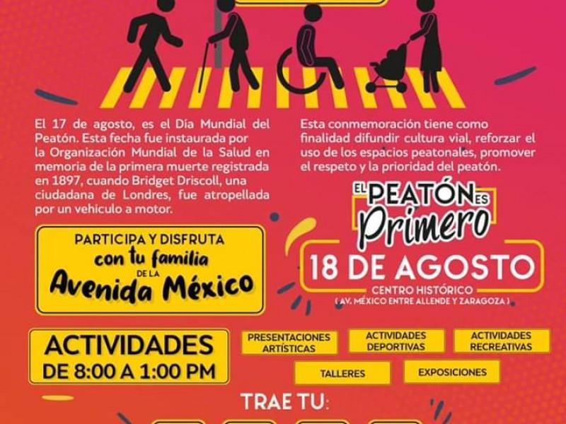 Ayuntamiento de Tepic celebrará el Día del Peatón