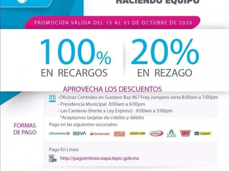 Ayuntamiento de Tepic seguirá aplicando descuentos durante pandemia
