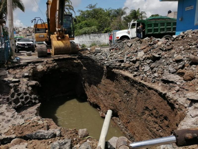Ayuntamiento de Tepic sin recurso para reparar socavones