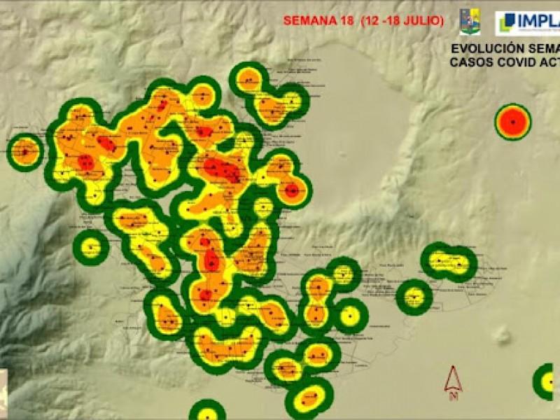 Ayuntamiento de Tepic volverá a publicar mapa de contagios