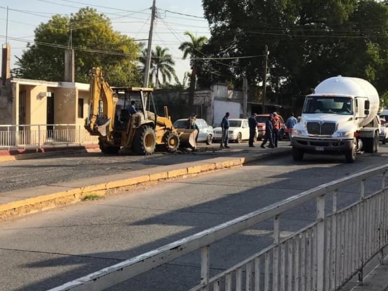 Ayuntamiento retira topes del desnivel tras accidente fatídico