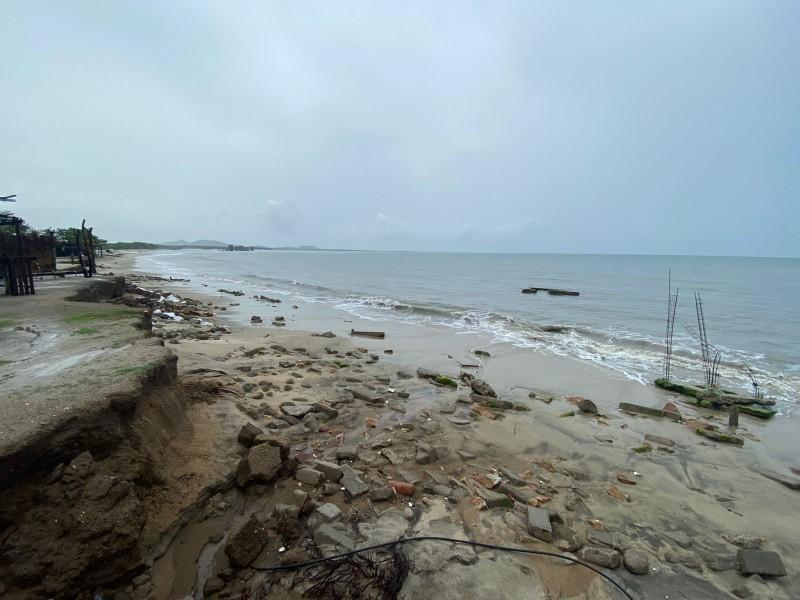 Bahía La ventosa, afectada por liberación de residuos