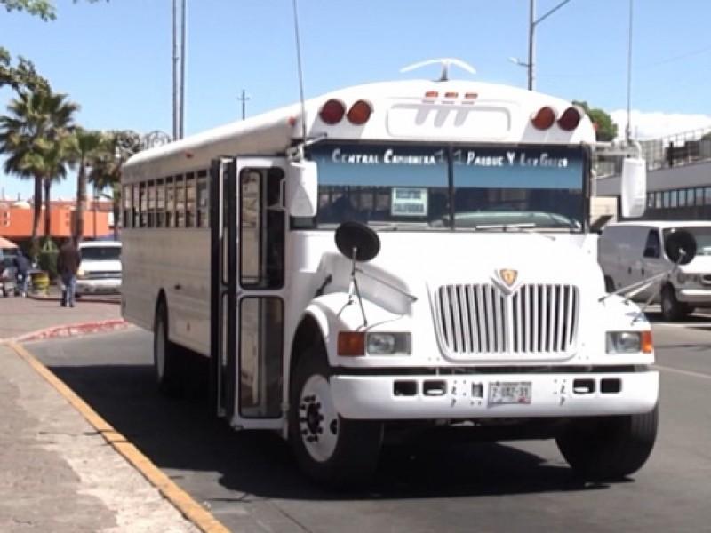 Baja uso de transporte público