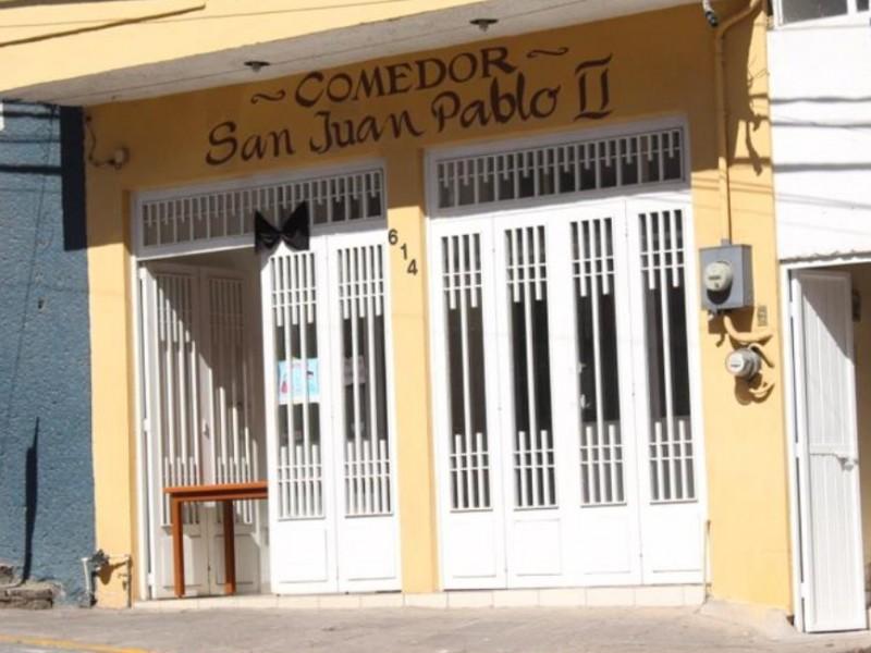 Bajan los donativos al comedor San Juan Pablo II