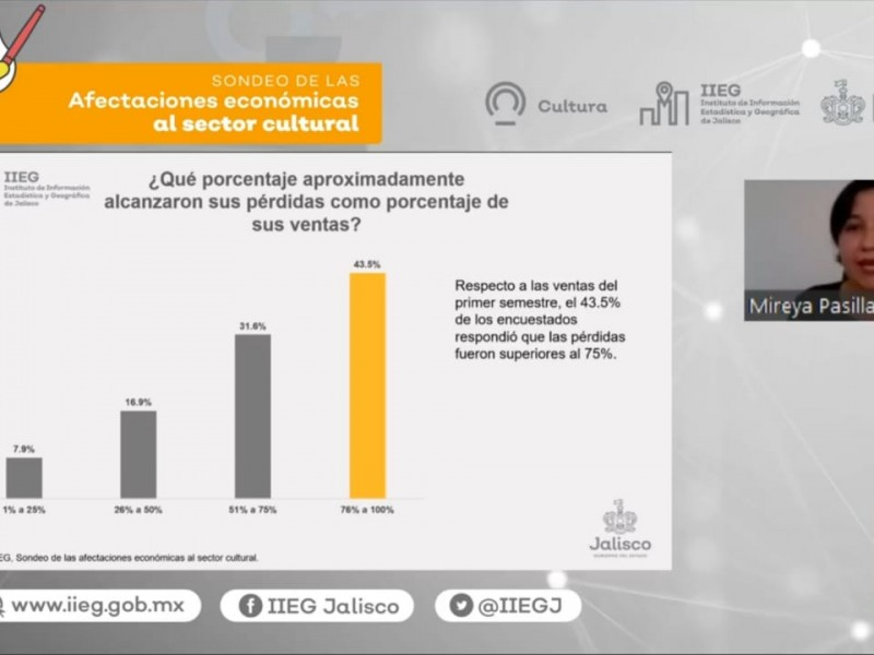 Bajan ventas del sector cultural al 76%