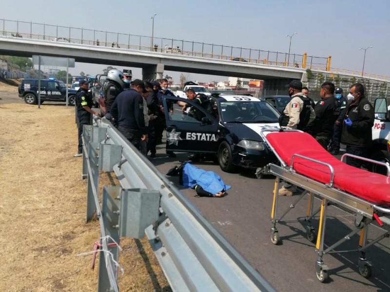 Balacera deja un policía muerto en la México-Pachuca