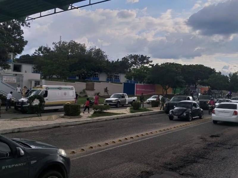 Balacera en secundaria de Cintalapa, causa pánico