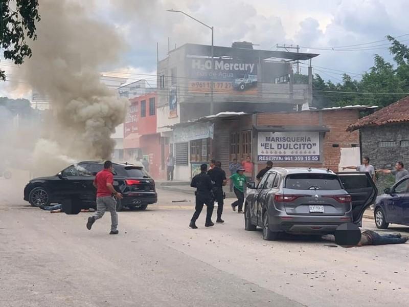 Balacera en Tuxtla deja 3 muertos