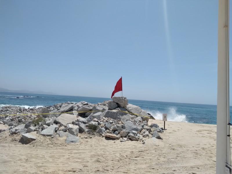 Banderas rojas en playas por mar de fondo