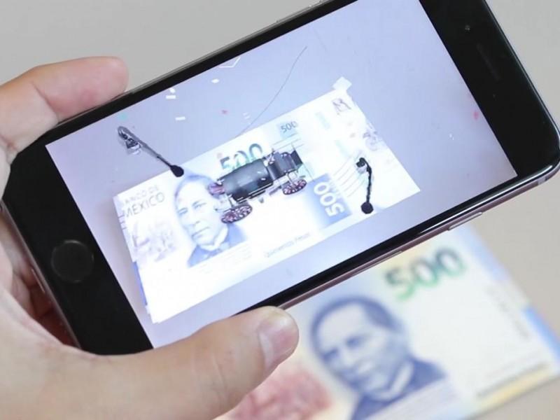 Banxico implementa tecnología de realidad aumentada en billetes
