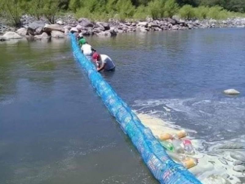 Barreras flotantes, alternativa para limpieza de ríos, drenes