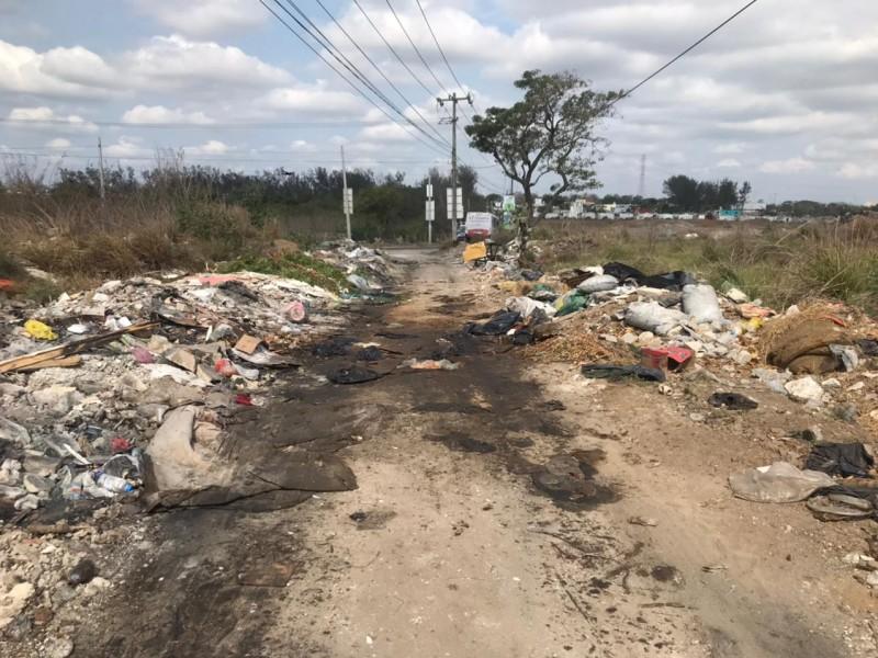 Basurero clandestino en el poniente de Veracruz