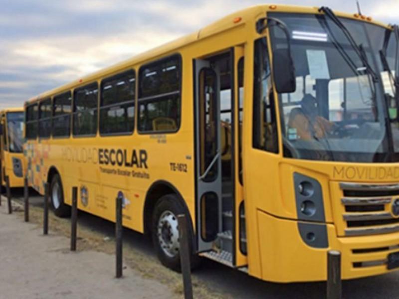 Benefician a 10,844 alumnos con transporte escolar; SEDESOQ