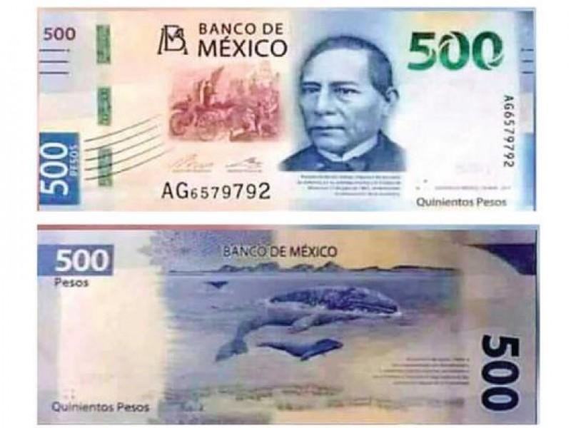 Benito Juárez, en el nuevo billete de $500