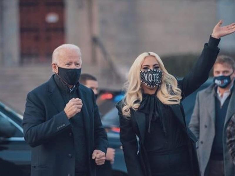 Biden cierra su campaña al lado de Lady Gaga