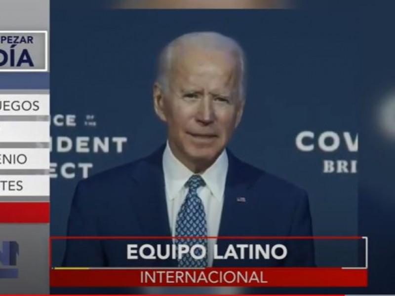 Biden presenta a equipo que trabajará en la Casa Blanca