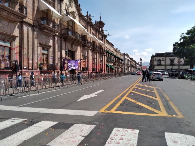 Blindan palacio de Gobierno por visita del presidente de México