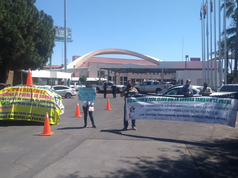 Bloquea puerta 1 México Organización Usuarios Unidos por Sonora