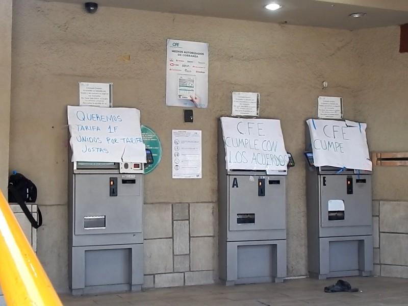 Bloquean instalaciones de CFE Usuarios Unidos por Sonora