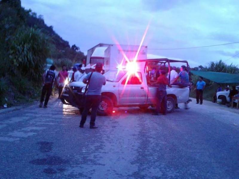 Bloqueo carretero en Chilón-Bachajón